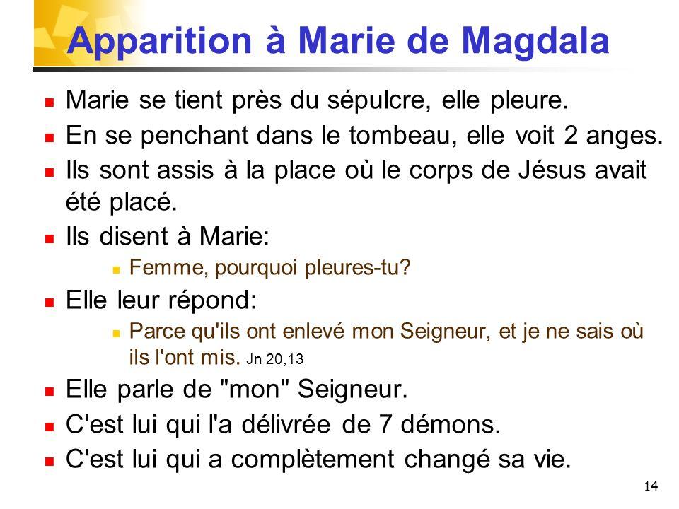 Apparition à Marie de Magdala