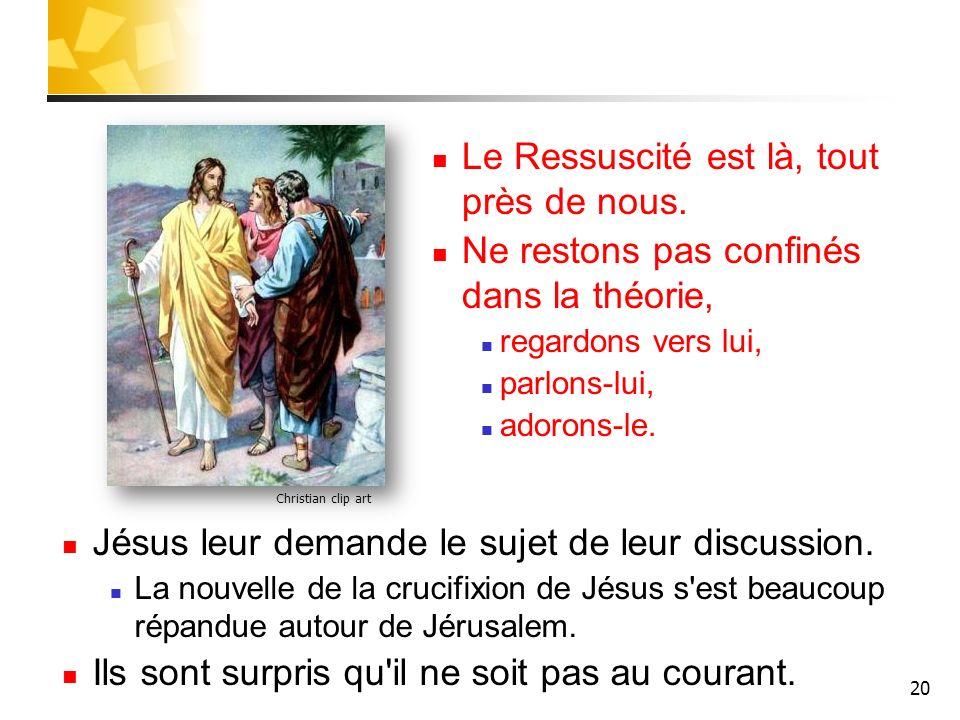 Le Ressuscité est là, tout près de nous.