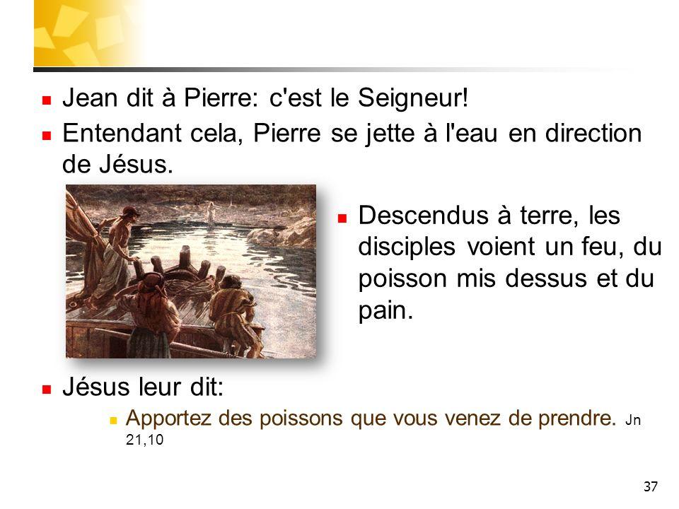 Jean dit à Pierre: c est le Seigneur!