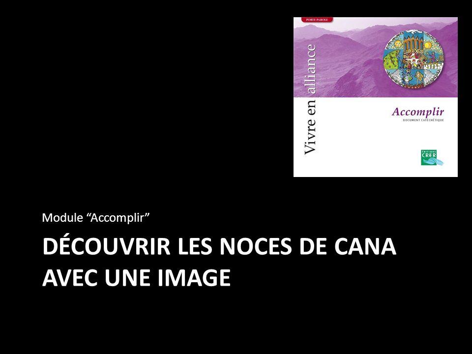 DÉCOUVRIR LES NOCES DE CANA AVEC UNE IMAGE