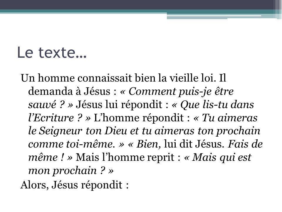 Le texte…