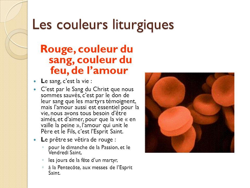 Les couleurs liturgiques