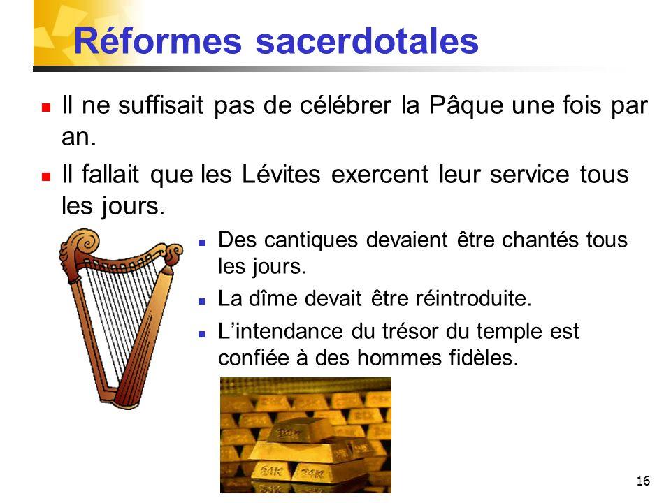 Réformes sacerdotales