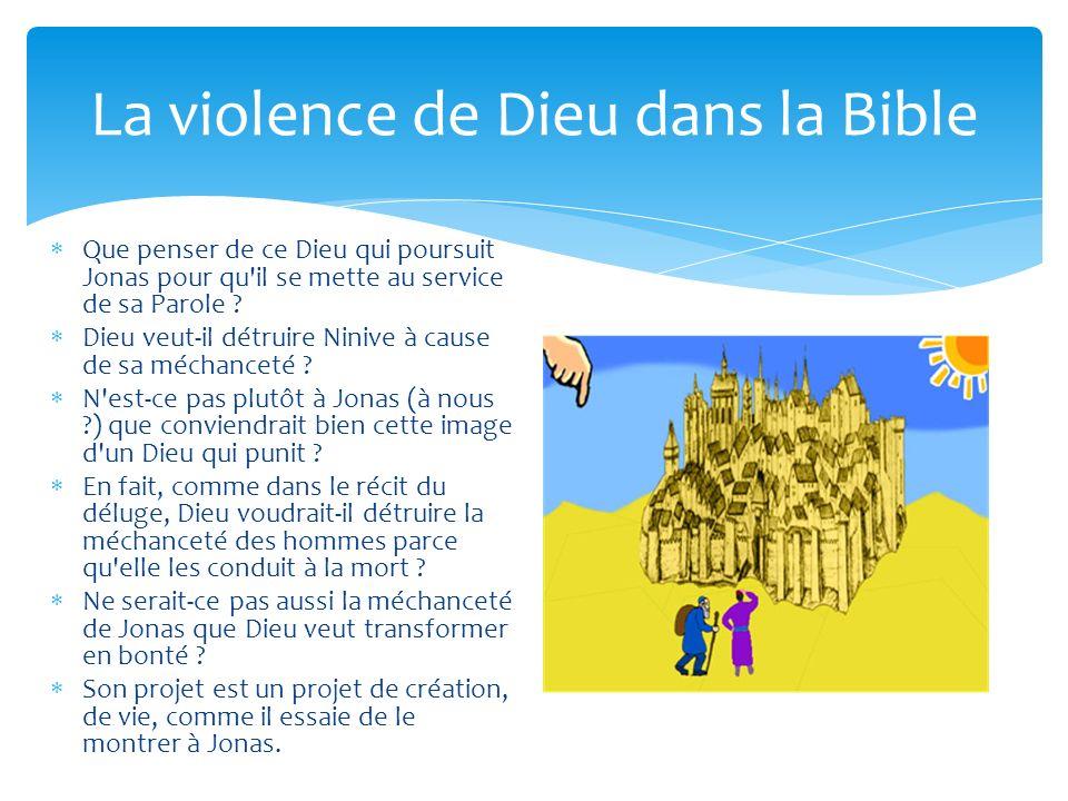 La violence de Dieu dans la Bible