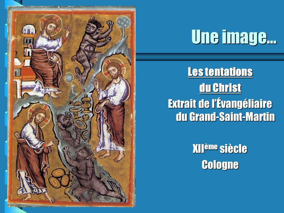 Extrait de l'Évangéliaire du Grand-Saint-Martin