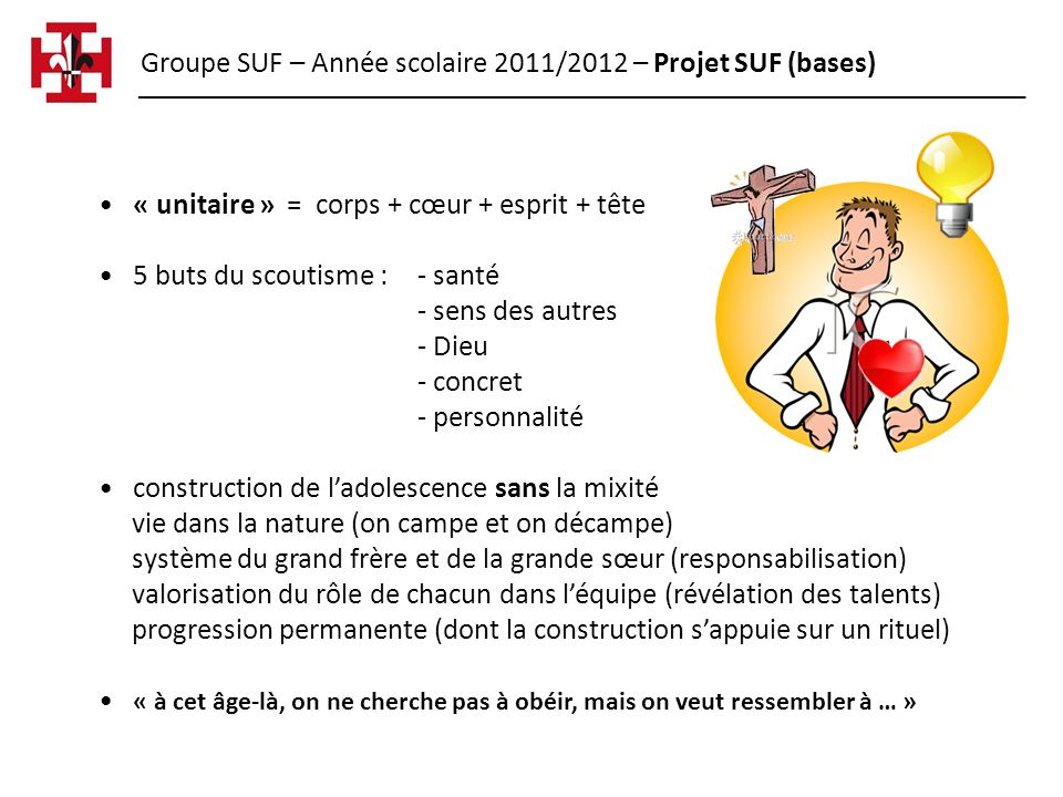 Groupe SUF – Année scolaire 2011/2012 – Projet SUF (bases)