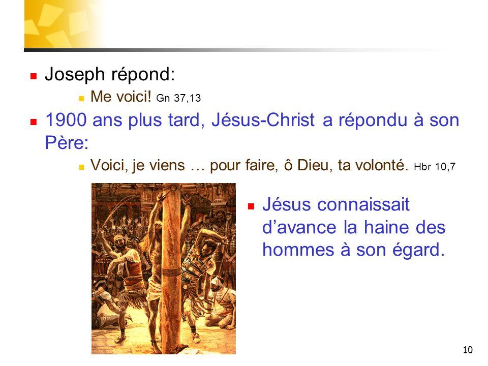 1900 ans plus tard, Jésus-Christ a répondu à son Père: