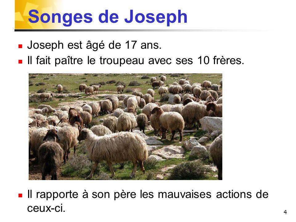 Songes de Joseph Joseph est âgé de 17 ans.