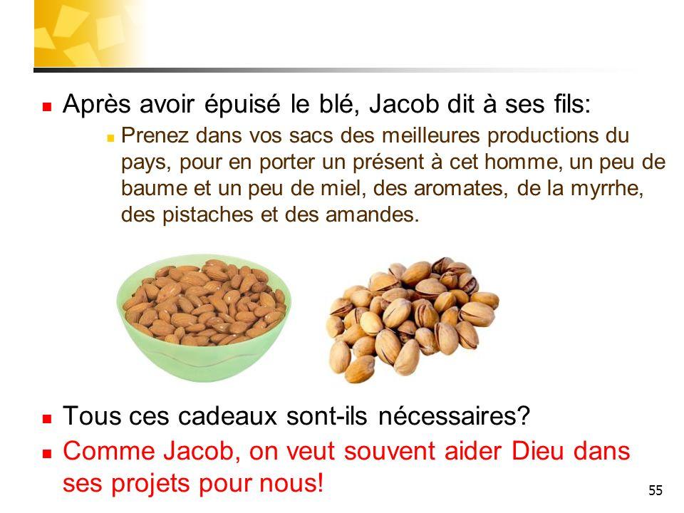 Après avoir épuisé le blé, Jacob dit à ses fils: