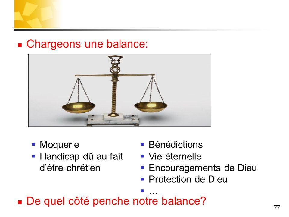 Chargeons une balance: