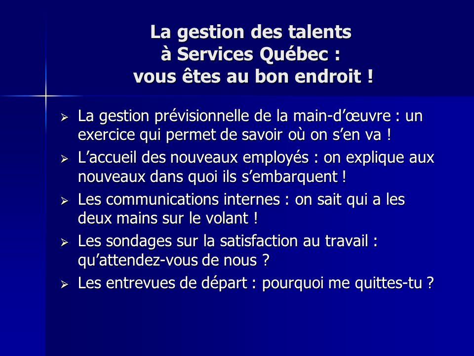La gestion des talents à Services Québec : vous êtes au bon endroit !