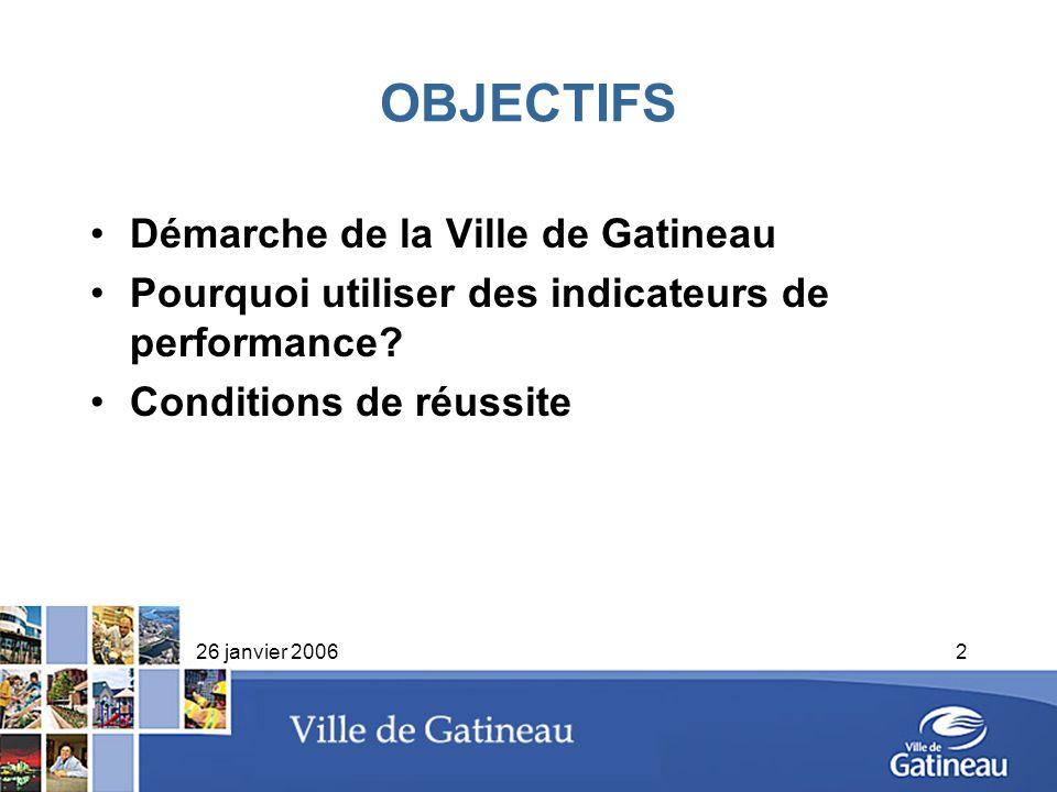 OBJECTIFS Démarche de la Ville de Gatineau