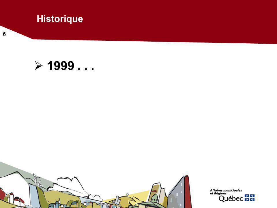 Historique 1999 . . .