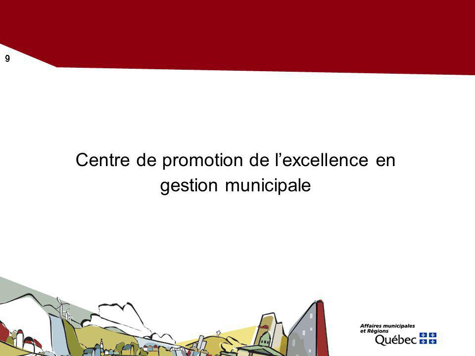 Centre de promotion de l'excellence en gestion municipale