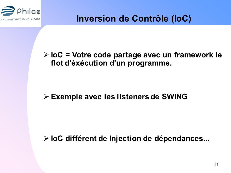 Inversion de Contrôle (IoC)