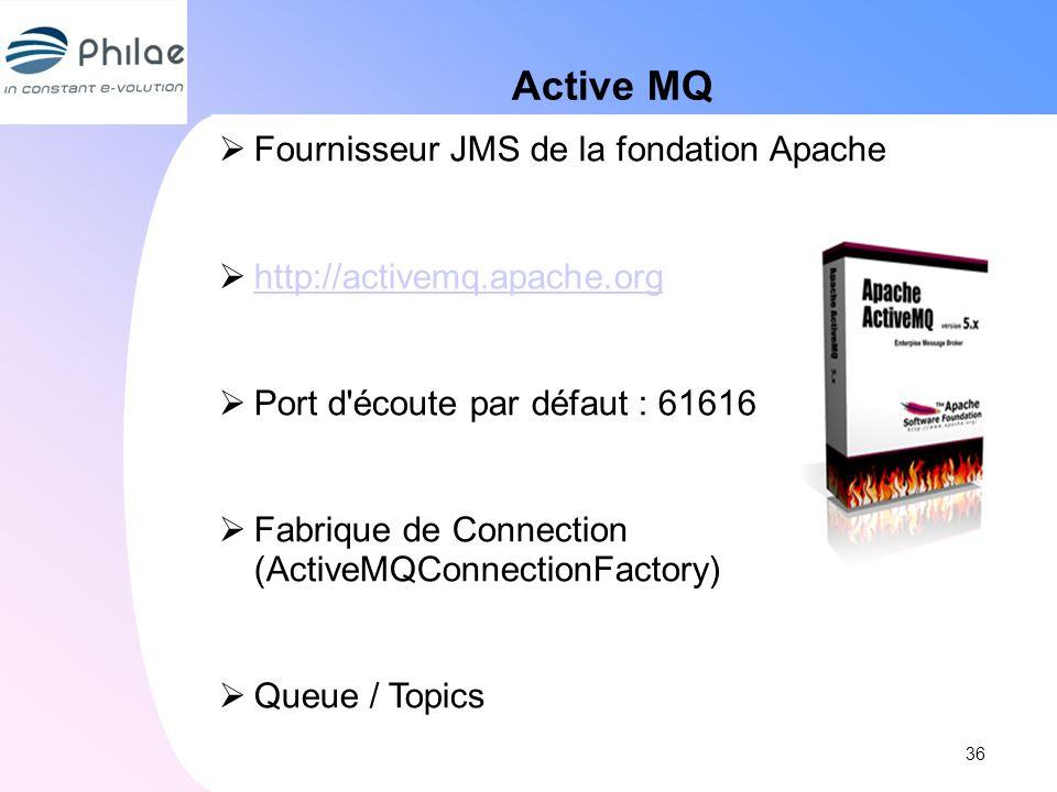 Active MQ Fournisseur JMS de la fondation Apache