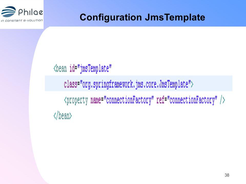 Configuration JmsTemplate