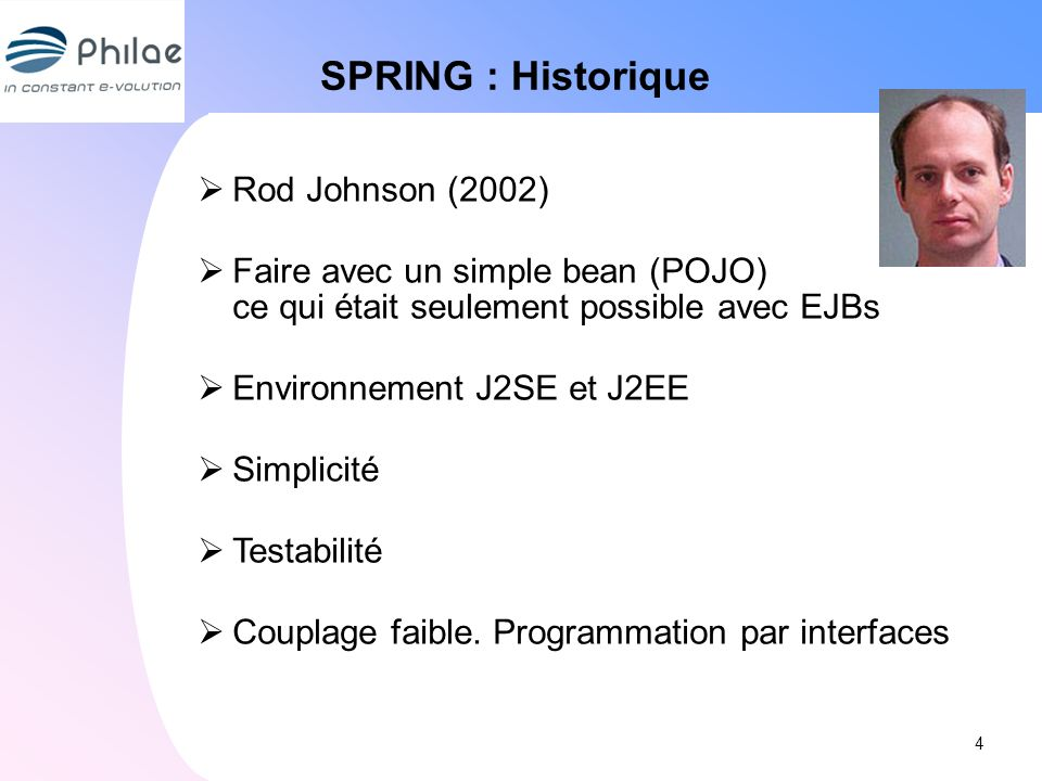 SPRING : Historique Rod Johnson (2002)