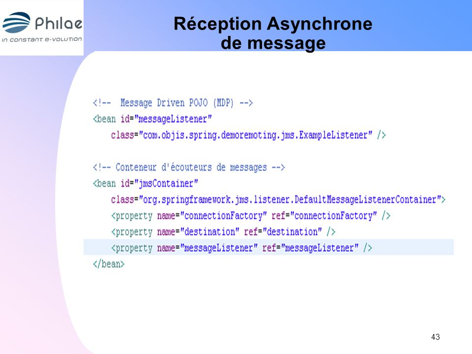 Réception Asynchrone de message
