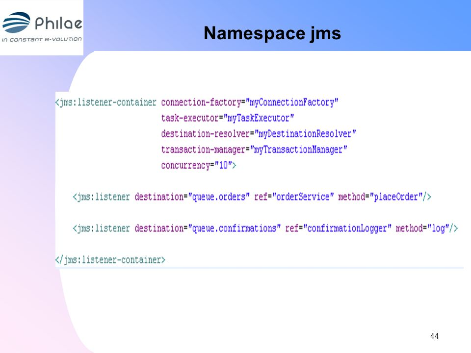 Namespace jms 44 44