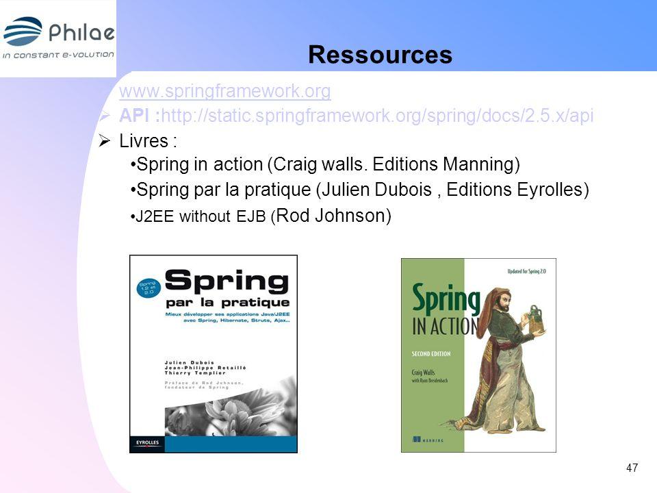Ressources 47 www.springframework.org