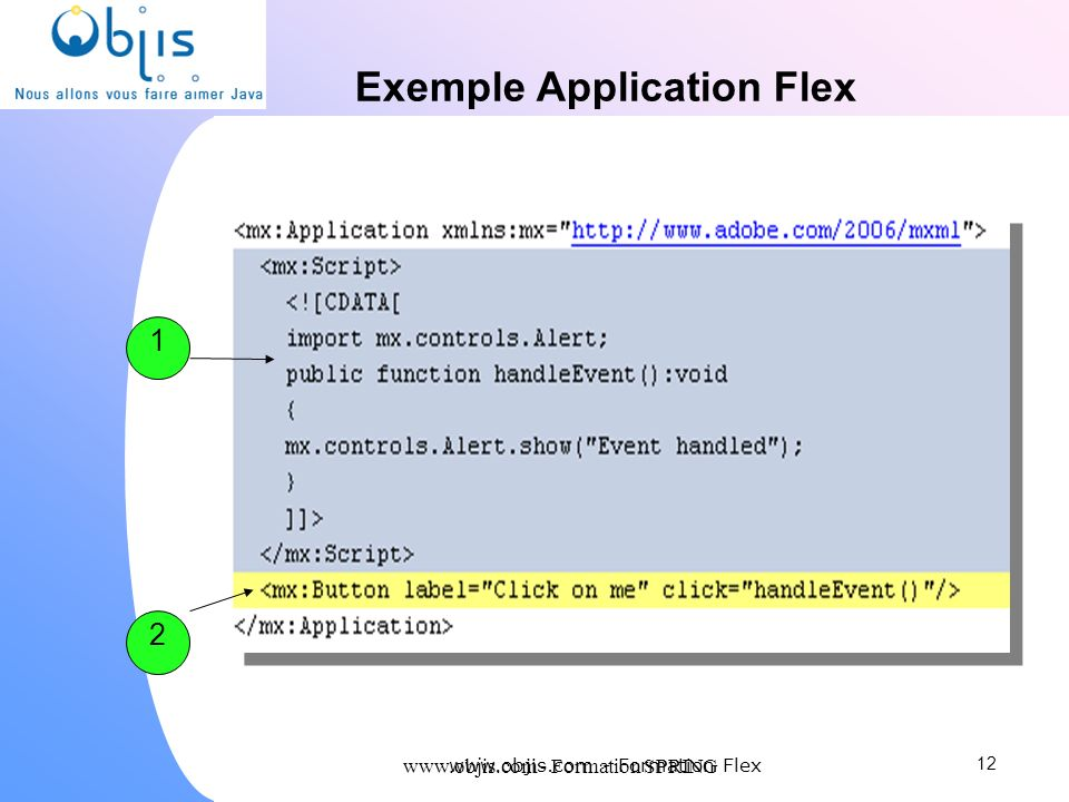 Exemple Application Flex