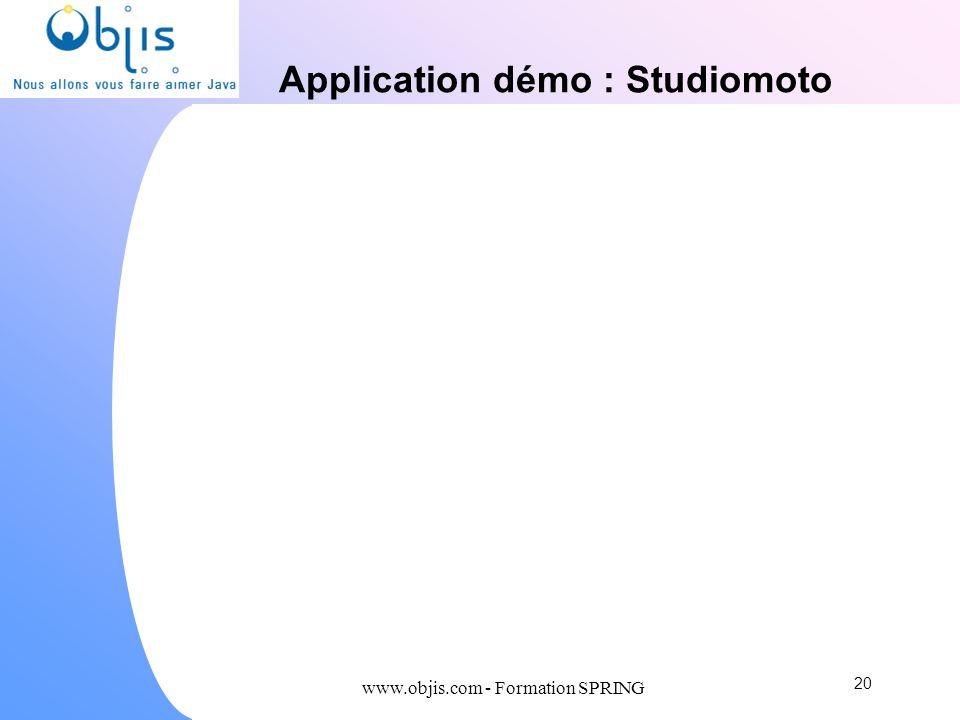 Application démo : Studiomoto