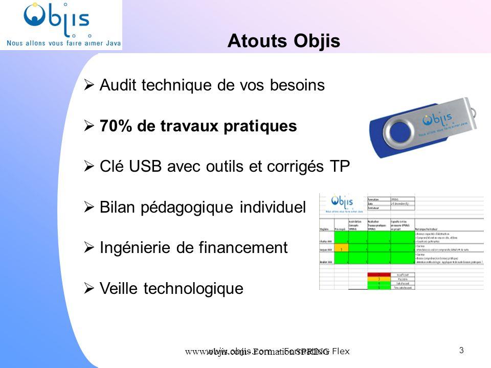 Atouts Objis Audit technique de vos besoins 70% de travaux pratiques