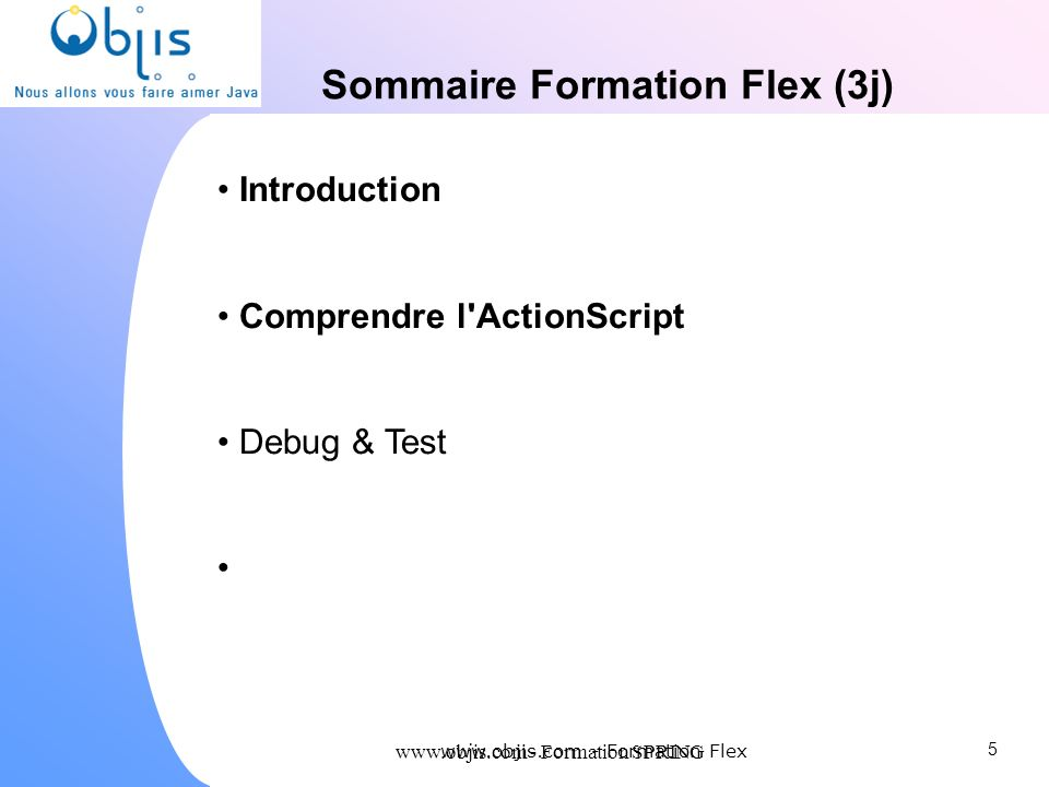 Sommaire Formation Flex (3j)