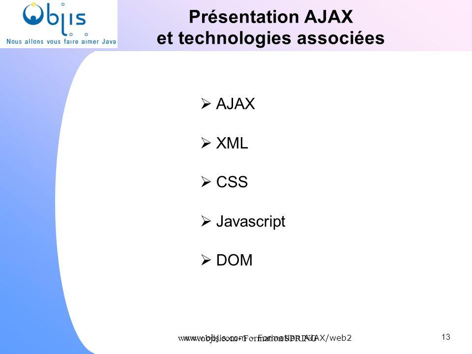 Présentation AJAX et technologies associées