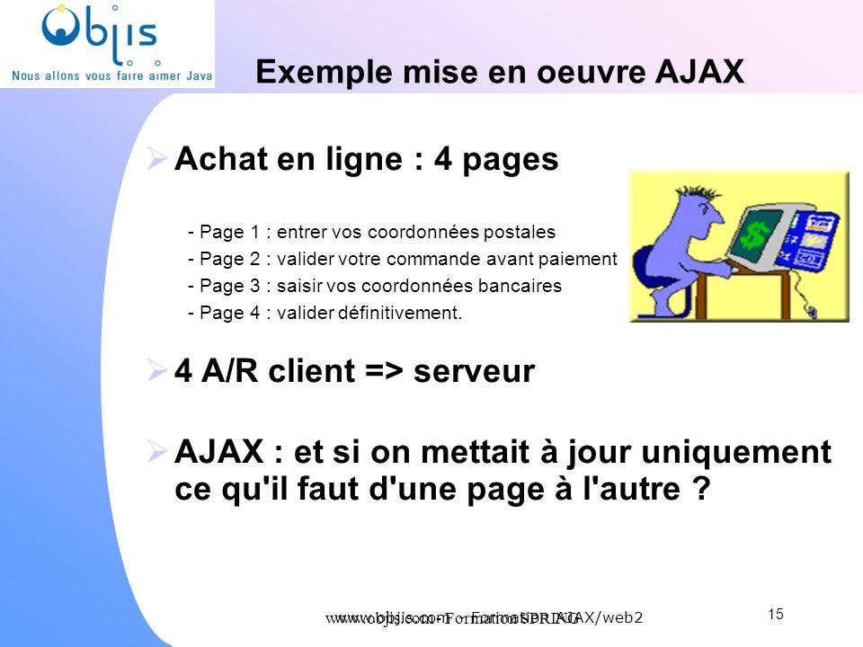 Exemple mise en oeuvre AJAX