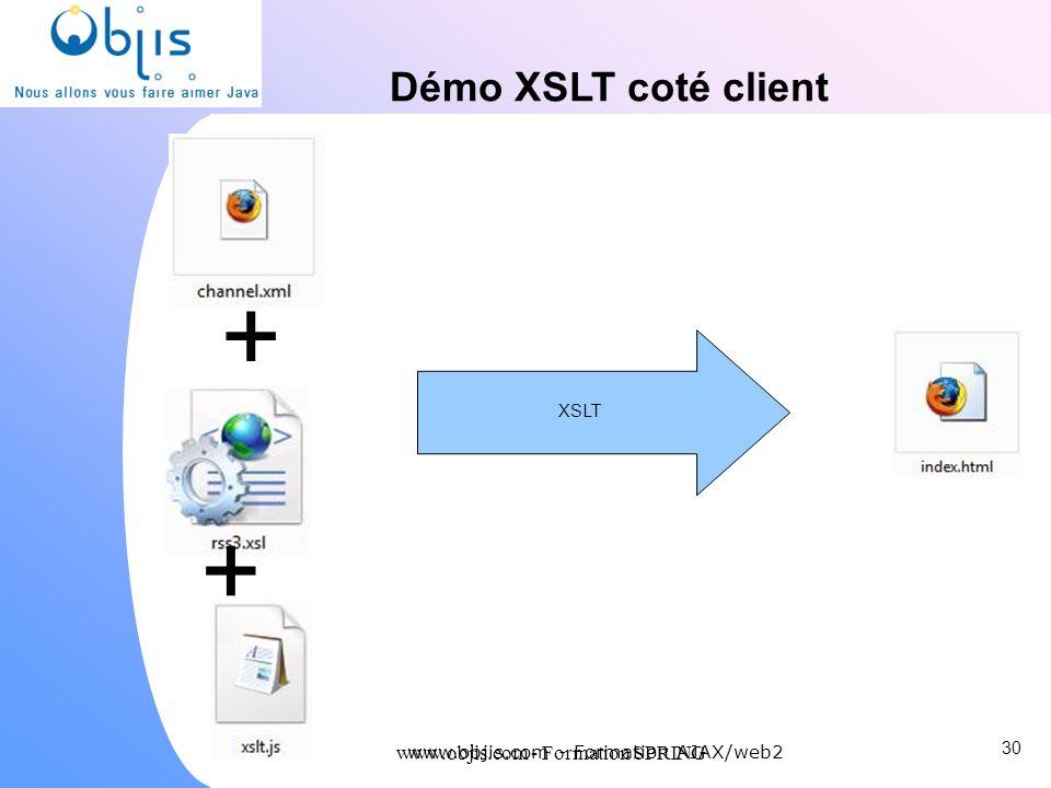 + + Démo XSLT coté client www.objis.com - Formation SPRING