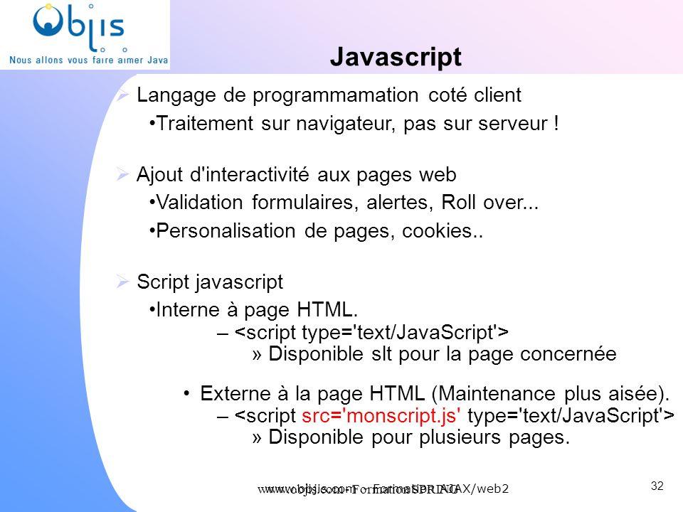 Javascript Langage de programmamation coté client