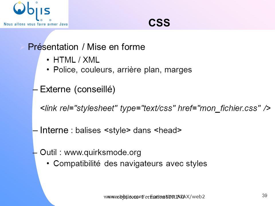 CSS Présentation / Mise en forme