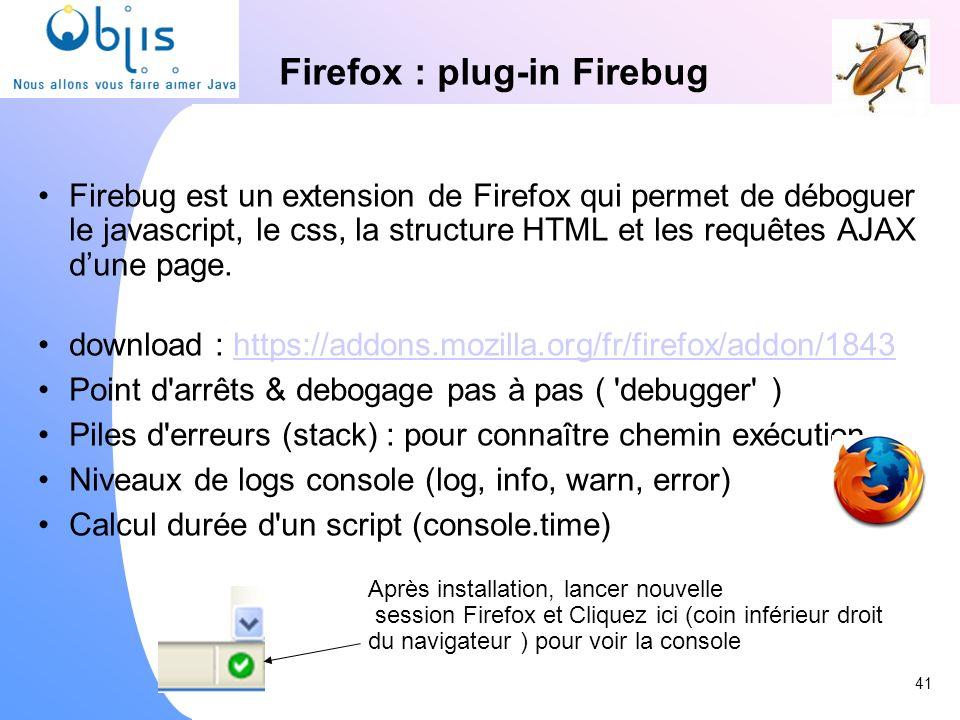 Firefox : plug-in Firebug