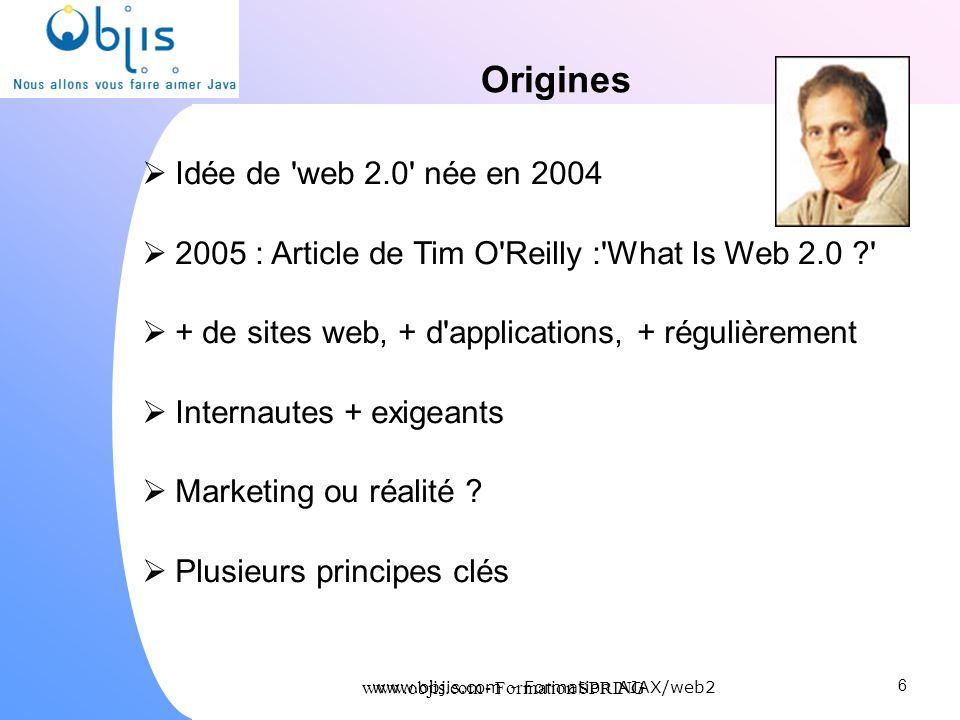 Origines Idée de web 2.0 née en 2004