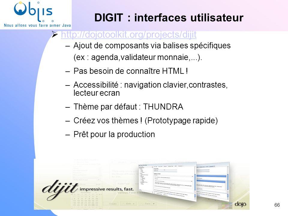 DIGIT : interfaces utilisateur