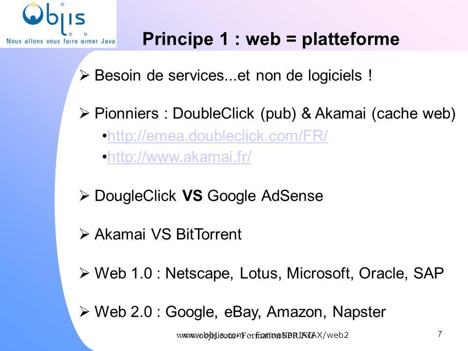 Principe 1 : web = platteforme