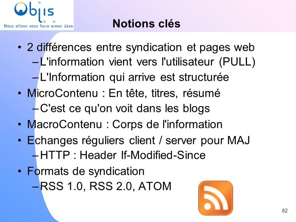 2 différences entre syndication et pages web