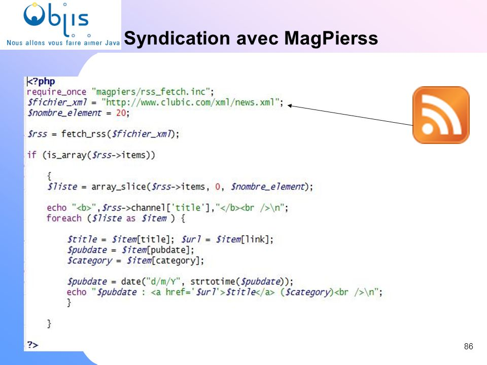 Syndication avec MagPierss