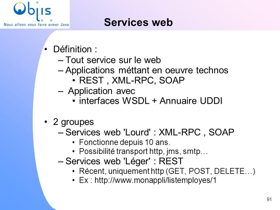 Services web Définition : Tout service sur le web