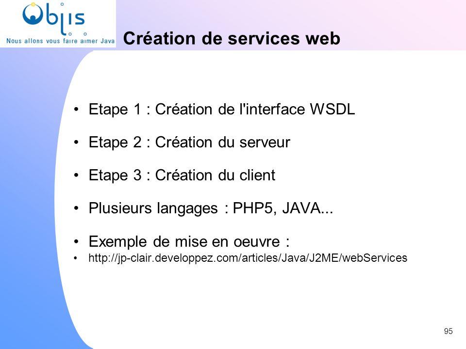 Création de services web