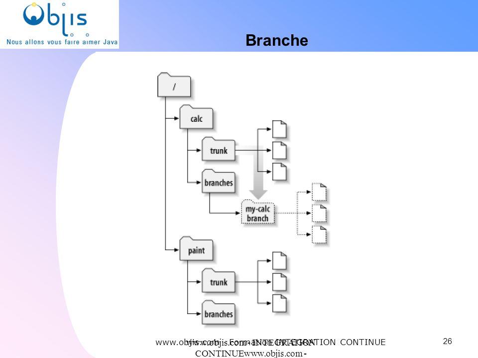 Branche www.objis.com - Formation INTEGRATION CONTINUE. www.objis.com - INTEGRATION CONTINUEwww.objis.com - Formation SPRING.