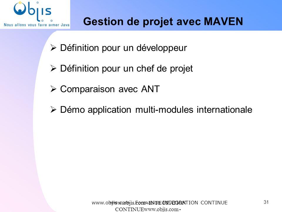 Gestion de projet avec MAVEN
