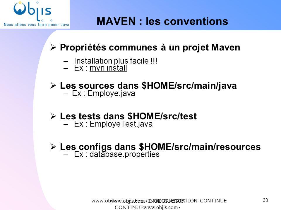 MAVEN : les conventions