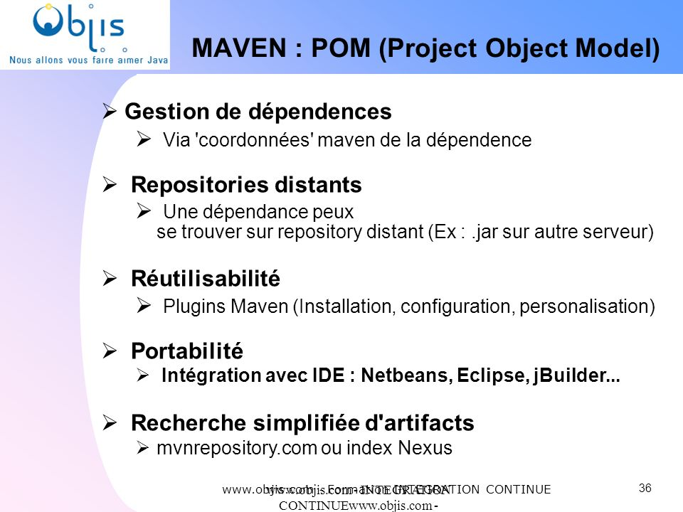 MAVEN : POM (Project Object Model)