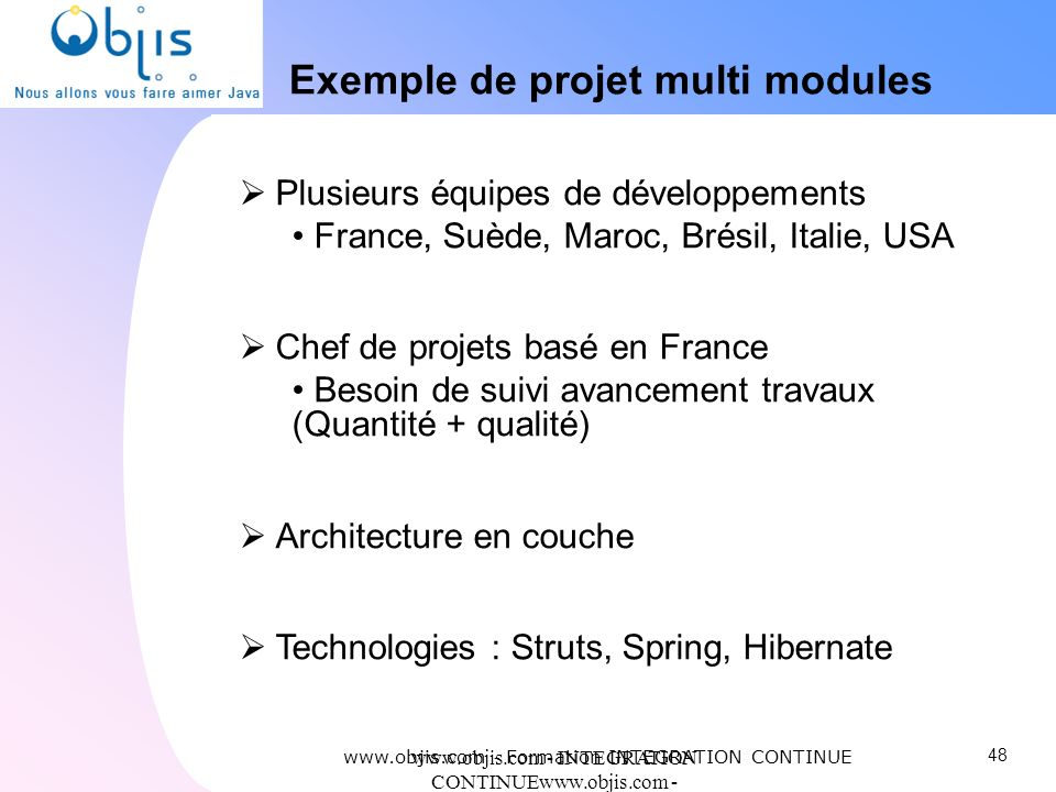 Exemple de projet multi modules