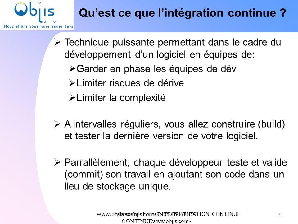 Qu'est ce que l'intégration continue