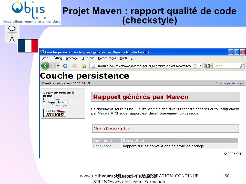 Projet Maven : rapport qualité de code