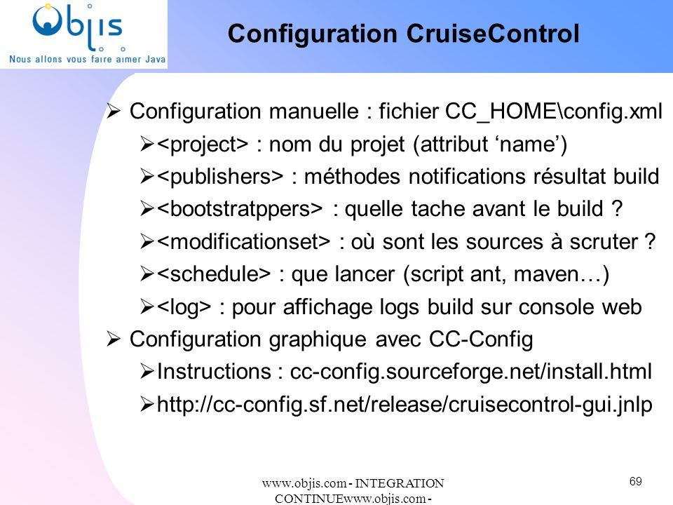 Configuration CruiseControl